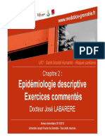 02 - Epidémiologie descriptive Exercices commentés
