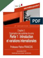 3- B. Santé publique - Economie de la santé Professeur Patrice FRANCOIS