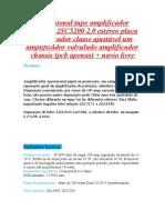 Profissional tupe amplificador 2SA1943 2SC5200 2