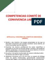 COMPETENCIAS DEL COMITE DE CONVIVENCIA LABORAL