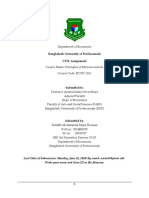 BUP- ECON 1101- 20 Batch- Class Test II- Assignment