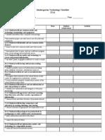Kindergarten Technology Checklist