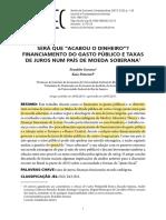 Franklin Serrano - Financiamento Dos Gastos Públicos e Taxa de Juros Em Economias de Moeda Soberana