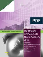 FORMACION AVANZADA EN MEDICINA FETAL