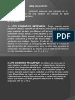 LITIS CONSORCIO- INTERVENCIÓN DE TERCEROS