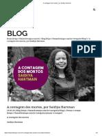 HARTMAN_A contagem dos mortos, por Saidiya Hartman