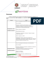 Convocatoria - Eservices Nov 2010