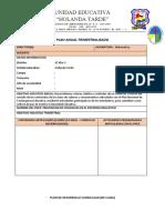 Formatos Plan Anual y Plan de Clase 2020