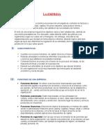 (3)LA EMPRESA COMO ENTE DE DESARROLLO ECONÓMICO