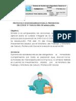 PTC-PCB 0012 Protocolo Bioseguidad para la prevención del COVID-19 Mensajeria