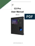 Anviz_C2 Pro_User Manual_V1.1_EN
