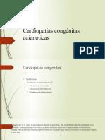 Cardiopatías congénitas acianoticas