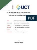 DERECHO PROCESAL CONSTITUCIONAL Y EL CONTROL DE LA CONSTITUCIONALIDAD EN EL PERÚ