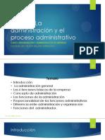 Clase 1 - La adminitración y el proceso administrativo