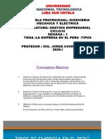 SEMANA1 LA EMPRESA EN EL PERU -TIPOS