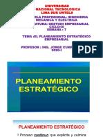SEMANA 7 EL PLANEAMIENTO ESTRATÉGICO EMPRESARIAL