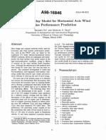 A 3-D Stall-Delay Model for HAWT Performance Prediction - Du & Selig