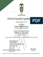 certificado inserción a la vida laboral