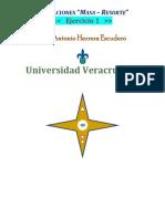 Oscilaciones (Masa - Resorte) - Ejercicio 1 - Antonio Herrera Escudero