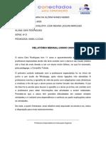 RELATÓRIO MENSAL JUNHO DAVI 6 D.