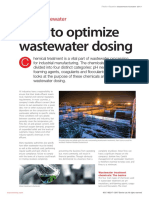 How to optimize wastewater dosing