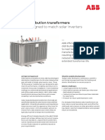 Solar-Ready Distribution Transformer (Fit for Purpose) Product Sheet