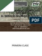 RIEGO TECNIFICADO INIA - 2019