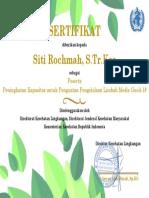Sertifikat Siti Rochmah, S.Tr.Kes