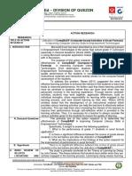EDUARDO M TALAMAN CAMFLORA-NHS-Tentative-Action-Research-