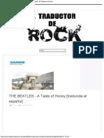 THE BEATLES - A Taste of Honey [traducida al español] - El Traductor de Rock