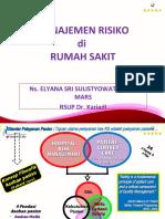 MANAJEMEN RISIKO, Pelath PS 2015, ELYANA.ppt