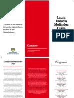 Laura Melendez Porgrama y Afiche