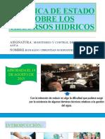 POLITICA DE ESTADO SOBRE LOS RECURSOS HIDRICOS