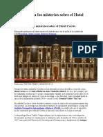 INAH revela los misterios sobre el Hotel Cortés