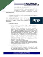 INFORME MEDIDAS DE PREVENCION COVID 19
