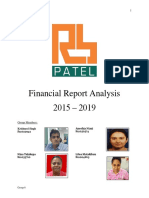 RB Patel Financial Report Analysis 2015 - 2019