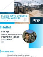 FLOOD GATE OPENING SYSTEM WITH AI