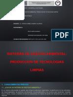 DIAPOSITIVAS SISTEMAS DE GESTION AMBIENTAL PRODUCCION DE TECNOLOGIAS LIMPIAS