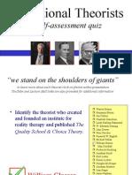 Theorist Self Assessment Quiz