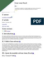 Utilisation du Solveur sous Excel.doc