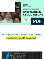 Jonathan Yabut - How To Build a Solid Resume