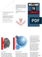 Trifold for immigrants moving to Canada