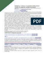 ORDONANTA DE URGENTA nr. 158 din 17 noiembrie 2005 privind concediile si indemnizatiile de asigurari sociale de sanatate.doc
