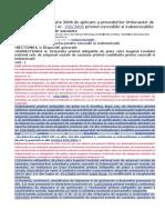 NORME din 27 ianuarie 2006 de aplicare a prevederilor Ordonantei de urgenta a Guvernului nr. 158 din 2005.doc