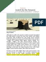 Deathwatch for the Amazon - The Economist