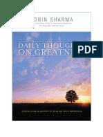 Robin Sharma DailyThoughts eBook
