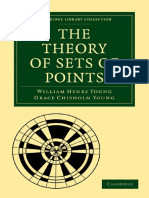 THE THEORY OF SETS OF POINTS (CAMBRIDGE LIBRARY COLLECTION - MATHEMATICS)