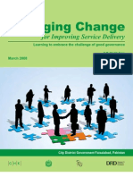 Managing Change for Improving Service Delivery - Learning to Embrace the Challenge of Good Governance