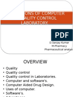 Applications of Computer in Quality Control Laboratory