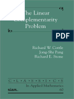 (Classics in Applied Mathematics 60) Richard W. Cottle, Jong-Shi Pang, Richard E. Stone - The Linear Complementarity Problem (Classics in Applied Mathematics)-Society for Industrial & Applied Mathema